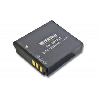 Batteria BP125A per Samsung HMX-M20 / HMX-Q10 / HMX-T10, 1250 mAh