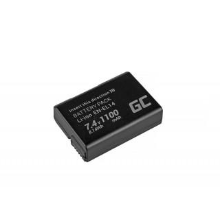 Batteria EN-EL14 per Nikon D3100 / D3400 / D5100 / D5600 / P7000, 1100 mAh