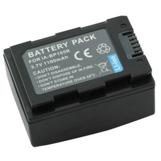 Batteria IA-BP105R per Samsung SMX-F50 / SMX-F70, 1100 mAh