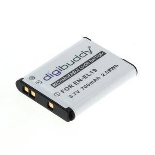 Batteria EN-EL19 / NP-BJ1 per Nikon Coolpix S2500 / S3100 / S01 / S100, 700 mAh