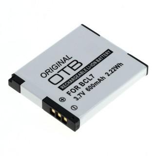 Batteria DMW-BCL7 per Panasonic Lumix DMC-F5 / DMC-FH10 / DMC-XS1, 600 mAh