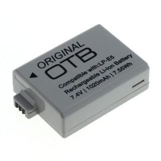 Batteria LP-E5 per Canon EOS-450D / EOS-500D / EOS-1000D, 1020 mAh
