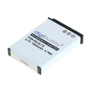Batteria EN-EL12 per Nikon Coolpix S620 / S640 / S1000 / S8000, 1000 mAh