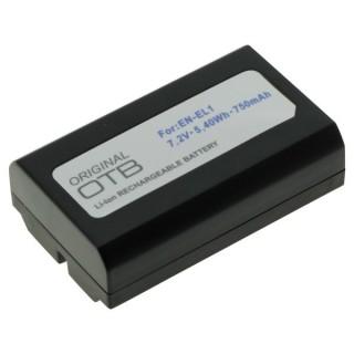 Batteria EN-EL1 per Nikon E880 / CoolPix 880 / 4300 / Konica Minolta Dimage A200, 750 mAh