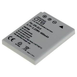 Batteria EN-EL8 per Nikon CoolPix S1 / S2 / S3 / P1 / P2, 600 mAh