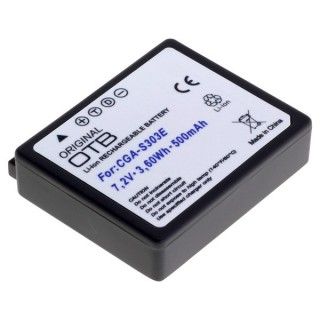 Batteria CGA-S303 per Panasonic SDR-S100 / SDR-S200 / SDR-S300, 500 mAh