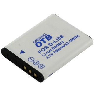 Batteria D-LI88 per Pentax Optio E71 / H90 / P70 / P80 / W90 / WS80, 700 mAh