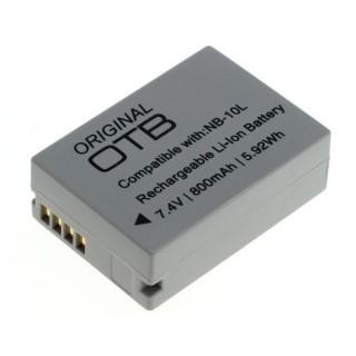 Batteria NB-10L per Canon PowerShot SX40 / SX50 / G10, 800 mAh