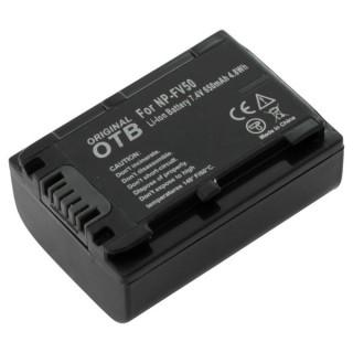 Batteria NP-FV50 per Sony DCR-SR58E / NEX-VG10 / HDR-TD30, 650 mAh