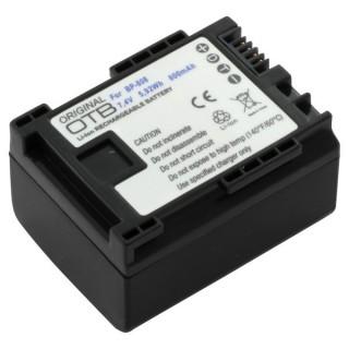 Batteria BP-808 per Canon FS10 / HF10 / HF100 / Legria HF-G10 / HF-S100, 800 mAh