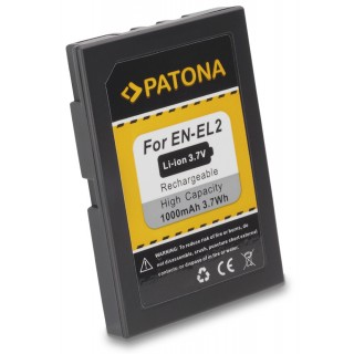 Batteria EN-EL2 per Nikon CoolPix 2500 / 3500 / SQ, 1000 mAh
