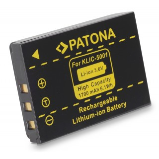 Batteria KLIC-5001 per Kodak Easy Share DX6490 / DX7440 / DX7590, 1700 mAh