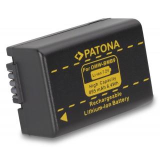 Batteria DMW-BMB9E per Panasonic Lumix DMC-FZ45 / DMC-FZ62 / DMC-FZ100, 895 mAh