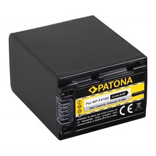 Batteria NP-FV100 za Sony DCR-HC16E / FDR-AX100E / HDR-XR105E, 2850 mAh