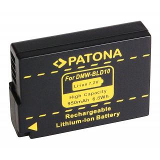 Batteria DMW-BLD10 per Panasonic Lumix DMC-G3 / DMC-GF2 / DMC-GX1, 950 mAh