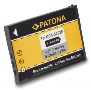 Batteria CGA-S003E per Panasonic SA-SA30 / SV-AS10 / SV-AV50, 530 mAh