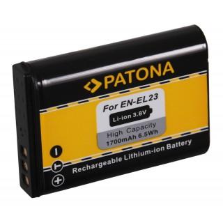 Batteria EN-EL23 per Nikon Coolpix P600 / P80 / S10, 1400 mAh