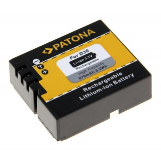 Batteria D30 per AEE SD18 / SD20 / SD22 / SD23, 870 mAh
