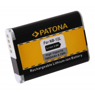 Batteria NB-12L per Canon Legria Mini X / Vivia Mini X / PowerShot G1 X Mark 2, 1800 mAh