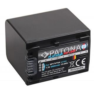 Batteria NP-FV70 za Sony DCR-DVD103 / DCR-DVD105 / DCR-DVD106, 2060 mAh