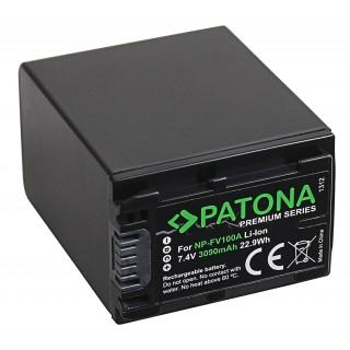 Batteria NP-FV100 za Sony DCR-HC16E / FDR-AX100E / HDR-XR105E, 3090 mAh