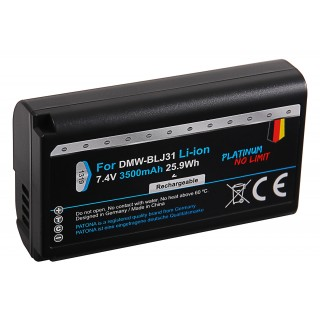 Batteria DMW-BLJ31 per Panasonic Lumix DC-S1 / DC-S1H / DC-S1R, 3500 mAh