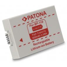 Batteria BP-110 per Canon HF R26 / HF 28 / HF 206, 950 mAh