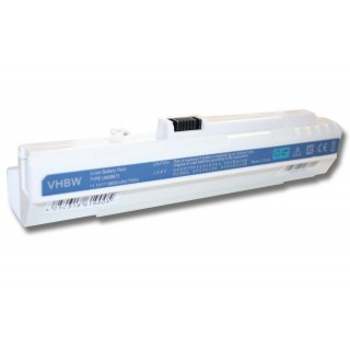 Batteria per Acer Aspire One A110 / A150 / D150 / D250, bianca, 6600 mAh