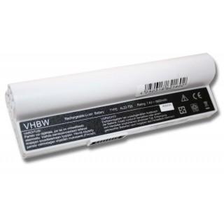 Batteria per Asus Eee PC 900A / 900HA / 900HD, bianca, 6600 mAh