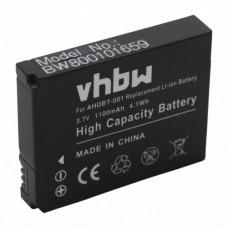 Batteria per GoPro HD Hero / HD Hero 2, 1100 mAh
