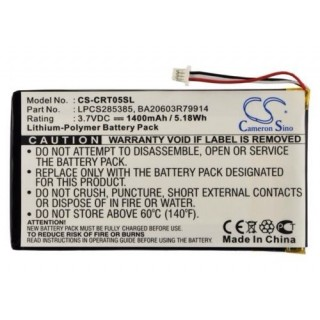 Batteria per Creative Labs Zen Vision M 30GB, 1400 mAh