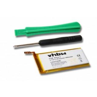Batteria per Apple iPod Nano 5G, 400 mAh