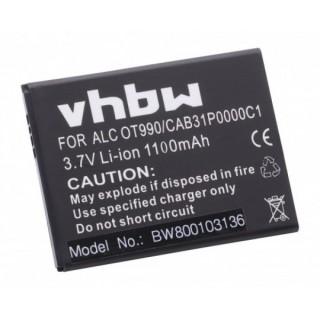 Batteria per Alcatel OT-910 / OT-985 / OT-990, 1100 mAh