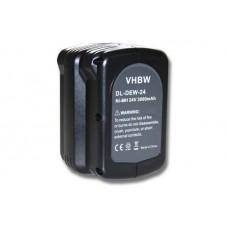 Batteria per DeWalt DE0240 / DE0241 / DW0240 / DW0242, 24 V, 3.0 Ah