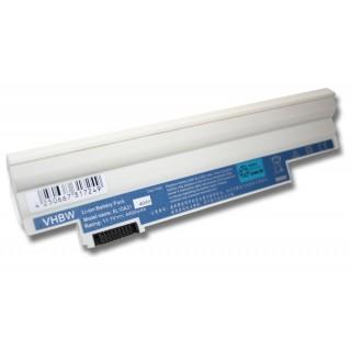 Batteria per Acer Aspire One 522 / 722 / D255 / D255E / D257, bianca, 4400 mAh