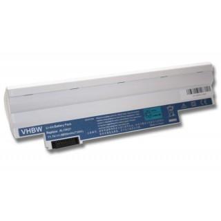 Batteria per Acer Aspire One 522 / 722 / D255 / D255E / D257, bianca, 6600 mAh