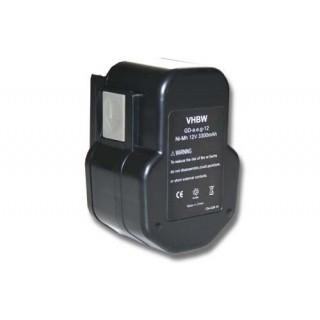Batteria per AEG BDSE 12T / BEST 12X / BS2E 12T / SB2E 12 / WBE2E 12, 12 V, 3.3 Ah