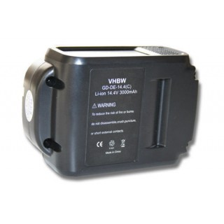 Batteria per DeWalt DCB140 / DCB141 / DCB142, 14.4 V, 3.0 Ah