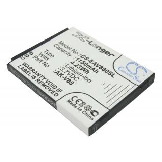 Batteria per Emporia AK-V88, 1150 mAh