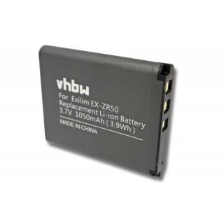 Batteria NP-160 per Casio Exilim EX-ZR50, 1050 mAh