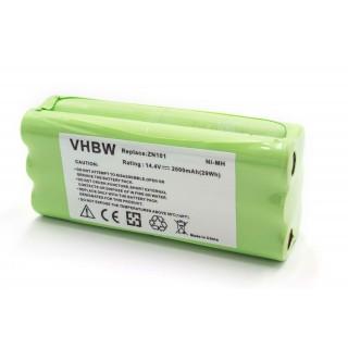 Batteria per Ecovacs Dibea ZN101 / Dirt Devil Libero, 2000 mAh