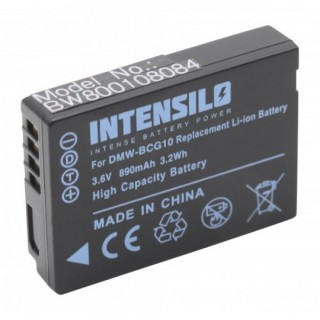 Batteria DMW-BCG10E per Panasonic Lumix DMC-TZ6 / DMC-ZS1, 890 mAh