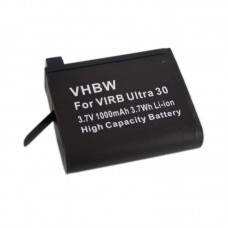 Batteria per Garmin Virb Ultra 30, 1000 mAh