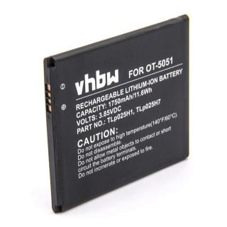 Batteria per Alcatel One Touch Pop 4 / OT-5051, 1750 mAh