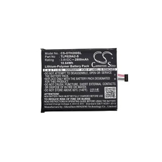 Batteria per Alcatel One Touch Pixi 3 5.5, 2800 mAh