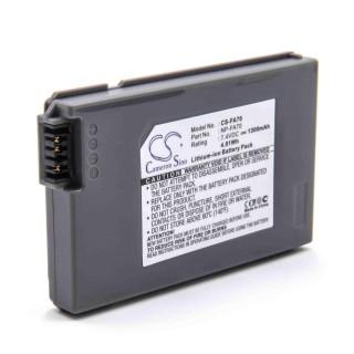 Batteria NP-FA50 / NP-FA70 / NP-FA90 per Sony DCR-PC1000E / DCR-DVD7E / DCR-HC90E / DCR-H90, 1300 mAh