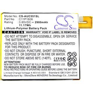 Batteria per Asus Zenfone 3 Laser / ZC551KL, 2900 mAh
