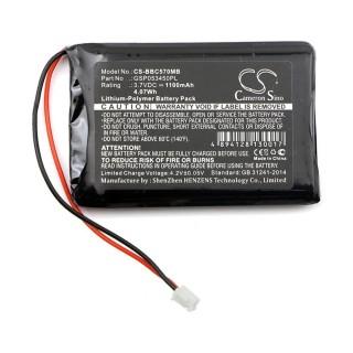 Batteria per BabyAlarm BC-5700D / NeoNate BC-5700D, 1100 mAh