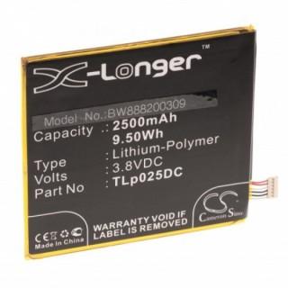 Batteria per Alcatel One Touch Pixi 4 6.0, 2500 mAh