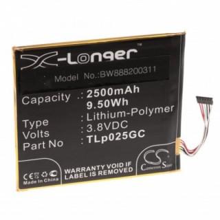 Batteria per Alcatel One Touch Pixi 4 7.0, 2500 mAh